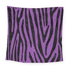 Skin4 Black Marble & Purple Denim (r) Square Tapestry (large) by trendistuff