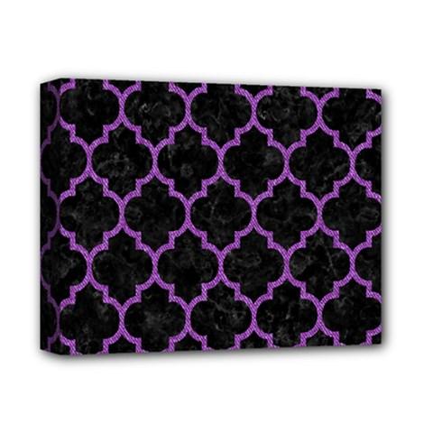 Tile1 Black Marble & Purple Denim (r) Deluxe Canvas 14  X 11  by trendistuff