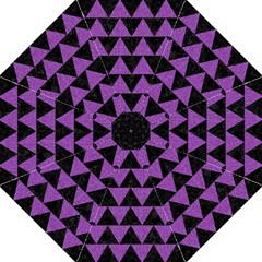 Triangle2 Black Marble & Purple Denim Hook Handle Umbrellas (medium) by trendistuff