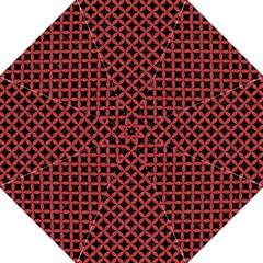Circles3 Black Marble & Red Denim (r) Hook Handle Umbrellas (large) by trendistuff