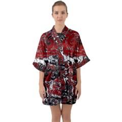 Graffiti Quarter Sleeve Kimono Robe