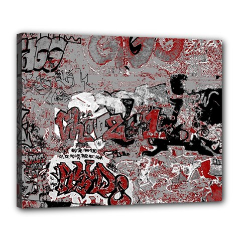 Graffiti Canvas 20  X 16  by ValentinaDesign