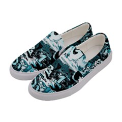 Graffiti Women s Canvas Slip Ons by ValentinaDesign