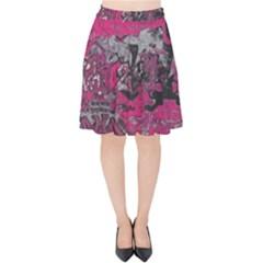 Graffiti Velvet High Waist Skirt by ValentinaDesign