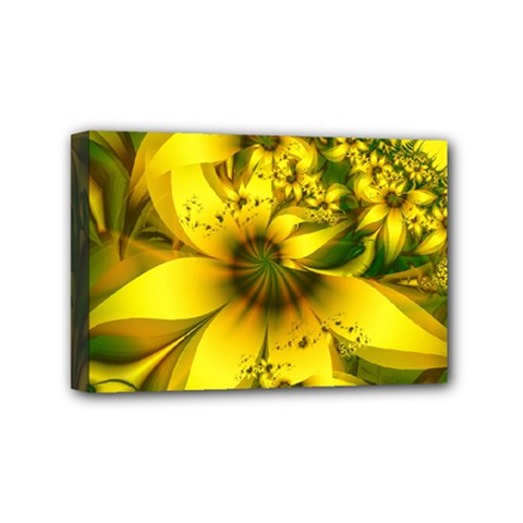 Beautiful Yellow Green Meadow Of Daffodil Flowers Mini Canvas 6  X 4  by jayaprime