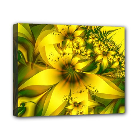 Beautiful Yellow Green Meadow Of Daffodil Flowers Canvas 10  X 8  by beautifulfractals
