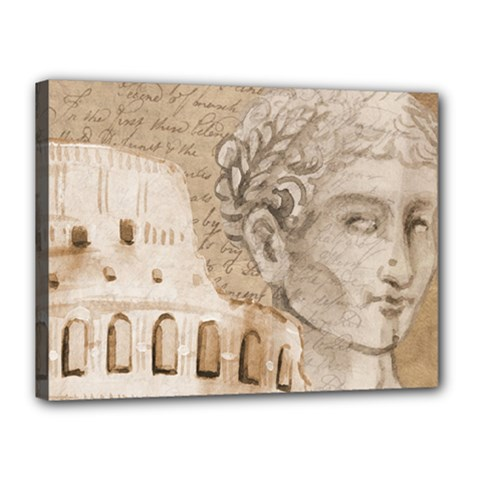 Colosseum Rome Caesar Background Canvas 16  X 12  by Celenk