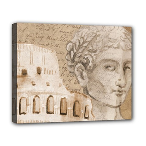 Colosseum Rome Caesar Background Deluxe Canvas 20  X 16   by Celenk