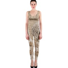 Colosseum Rome Caesar Background Onepiece Catsuit by Celenk