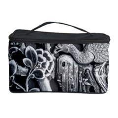 Black And White Pattern Texture Cosmetic Storage Case by Celenk