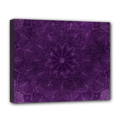 Background Purple Mandala Lilac Deluxe Canvas 20  X 16   by Celenk