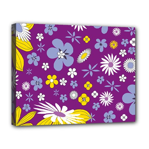 Floral Flowers Canvas 14  X 11  by Celenk