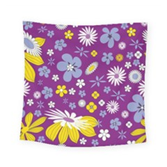 Floral Flowers Square Tapestry (small)