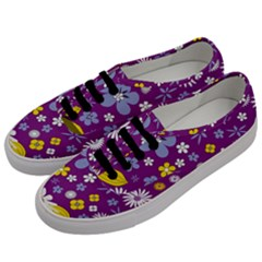 Floral Flowers Men s Classic Low Top Sneakers by Celenk