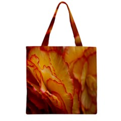 Flowers Leaves Leaf Floral Summer Zipper Grocery Tote Bag by Celenk