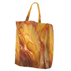 Flowers Leaves Leaf Floral Summer Giant Grocery Zipper Tote by Celenk