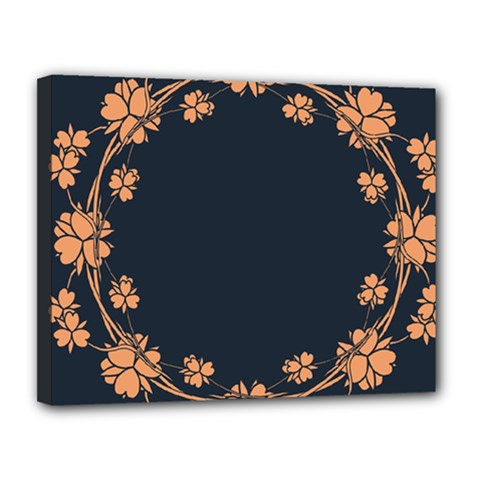 Floral Vintage Royal Frame Pattern Canvas 14  X 11  by Celenk
