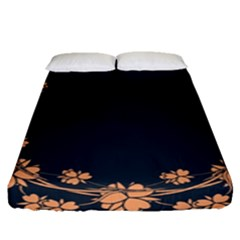 Floral Vintage Royal Frame Pattern Fitted Sheet (queen Size) by Celenk