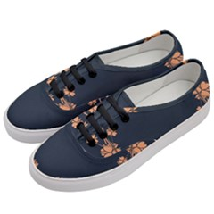 Floral Vintage Royal Frame Pattern Women s Classic Low Top Sneakers by Celenk