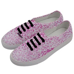 Halftone Dot Background Pattern Men s Classic Low Top Sneakers by Celenk