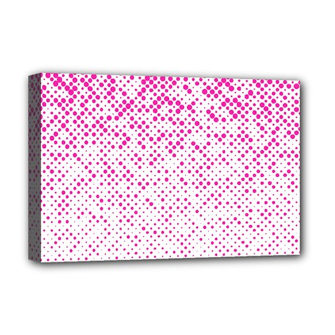 Halftone Dot Background Pattern Deluxe Canvas 18  X 12   by Celenk