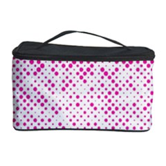 Halftone Dot Background Pattern Cosmetic Storage Case by Celenk