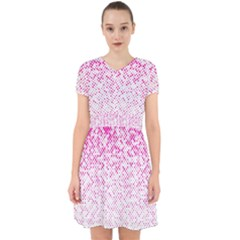 Halftone Dot Background Pattern Adorable In Chiffon Dress