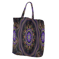 Fractal Vintage Colorful Decorative Giant Grocery Zipper Tote by Celenk