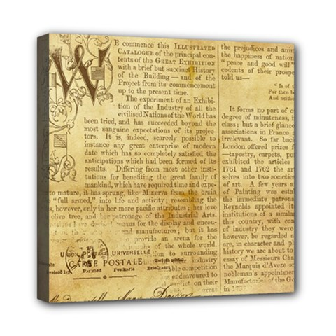 Vintage Background Paper Mini Canvas 8  X 8  by Celenk
