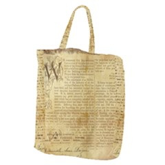 Vintage Background Paper Giant Grocery Zipper Tote by Celenk