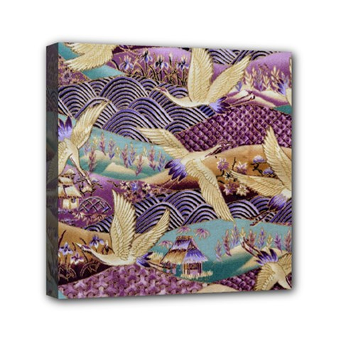 Textile Fabric Cloth Pattern Mini Canvas 6  X 6  by Celenk