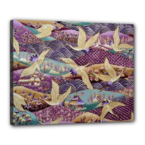 Textile Fabric Cloth Pattern Canvas 20  X 16  by Celenk
