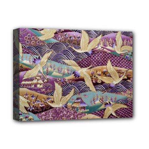 Textile Fabric Cloth Pattern Deluxe Canvas 16  X 12   by Celenk