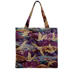 Textile Fabric Cloth Pattern Grocery Tote Bag by Celenk