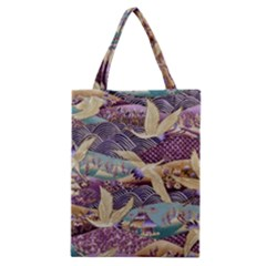 Textile Fabric Cloth Pattern Classic Tote Bag by Celenk