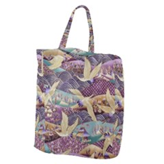Textile Fabric Cloth Pattern Giant Grocery Zipper Tote by Celenk