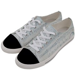 Vintage Blue Music Notes Women s Low Top Canvas Sneakers by Celenk