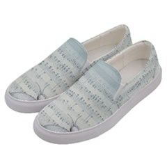 Vintage Blue Music Notes Men s Canvas Slip Ons by Celenk