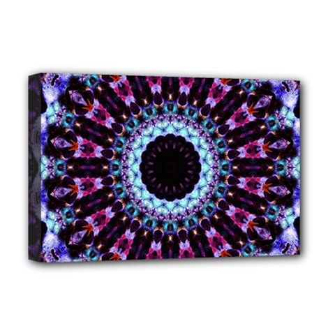 Kaleidoscope Shape Abstract Design Deluxe Canvas 18  X 12   by Celenk
