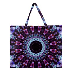 Kaleidoscope Shape Abstract Design Zipper Large Tote Bag by Celenk