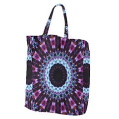 Kaleidoscope Shape Abstract Design Giant Grocery Zipper Tote by Celenk