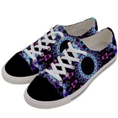 Kaleidoscope Shape Abstract Design Women s Low Top Canvas Sneakers by Celenk