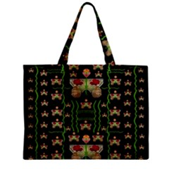 Roses In The Soft Hands Makes A Smile Pop Art Zipper Mini Tote Bag by pepitasart
