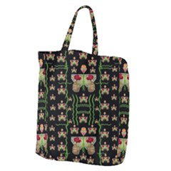 Roses In The Soft Hands Makes A Smile Pop Art Giant Grocery Zipper Tote by pepitasart