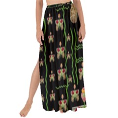 Roses In The Soft Hands Makes A Smile Pop Art Maxi Chiffon Tie Up Sarong