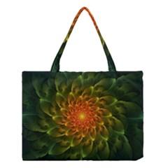 Beautiful Orange Green Desert Cactus Fractalspiral Medium Tote Bag by jayaprime