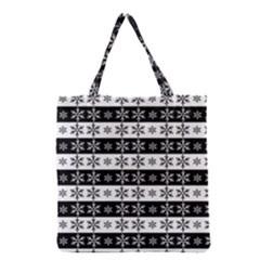 Snowflakes   Christmas Pattern Grocery Tote Bag by Valentinaart