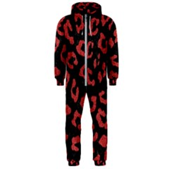 Skin5 Black Marble & Red Denim Hooded Jumpsuit (men)