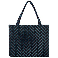 Brick2 Black Marble & Teal Brushed Metal (r) Mini Tote Bag by trendistuff