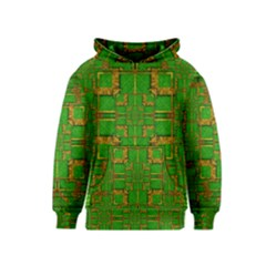 Golden Green And  Sunshine Pop Art Kids  Pullover Hoodie by pepitasart